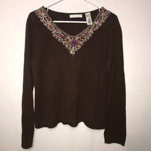 Crazy Horse embellished sweater Large